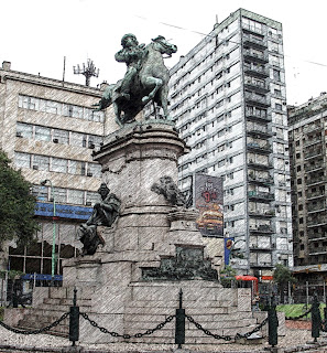 Monumento a Garibaldi na Plaza Italia, em Buenos Aires
