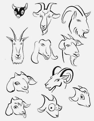 год козы и овцы рисунки