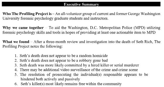 5e6b3abce49e Friends Of Liberty Archives  UP DATE ON SETH RICH Executive Summary ...