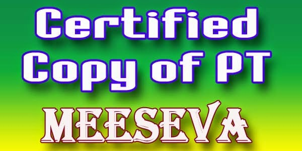 Certified Copy of PT Apply Meeseva