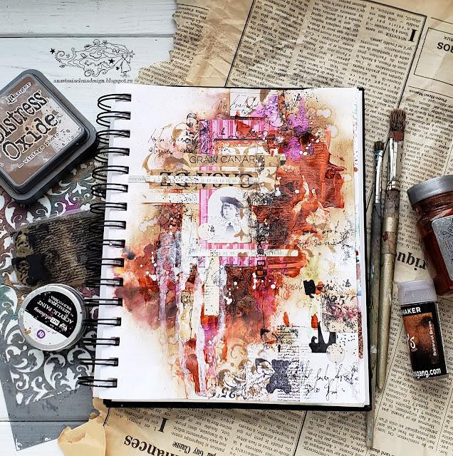 @nastyalena #artjournal #mixedmedia