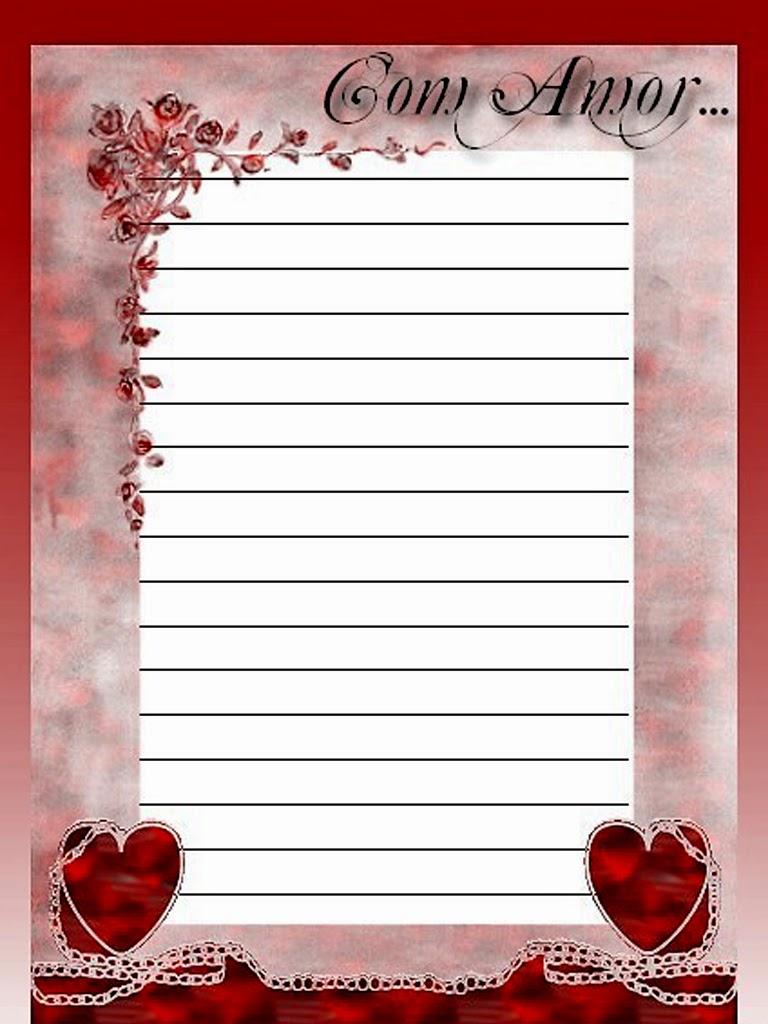 Papel De Carta Rom 226 Ntico Quero Imagem