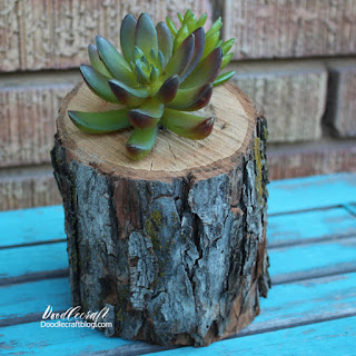 http://www.doodlecraftblog.com/2016/08/succulent-log-planter.html