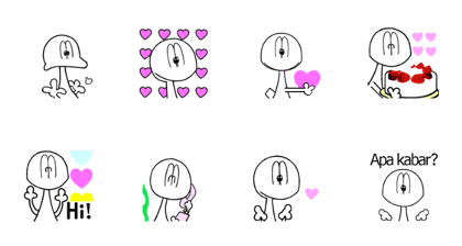 Animated Stickers of Nessy's childhood I