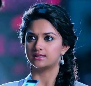 Keerthy Suresh in Blue Dress