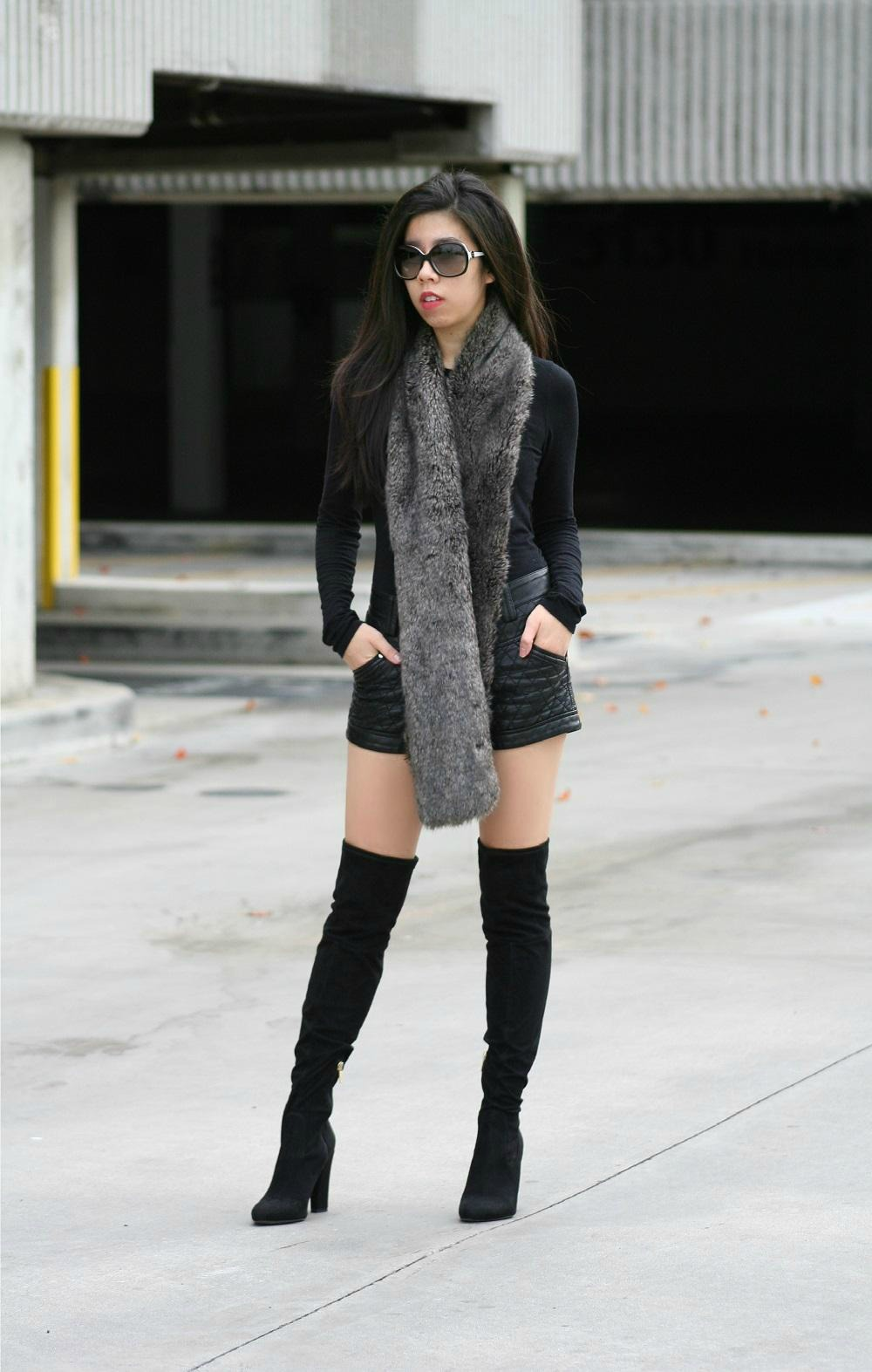 How to Wear Suede Over the Knee Boots
