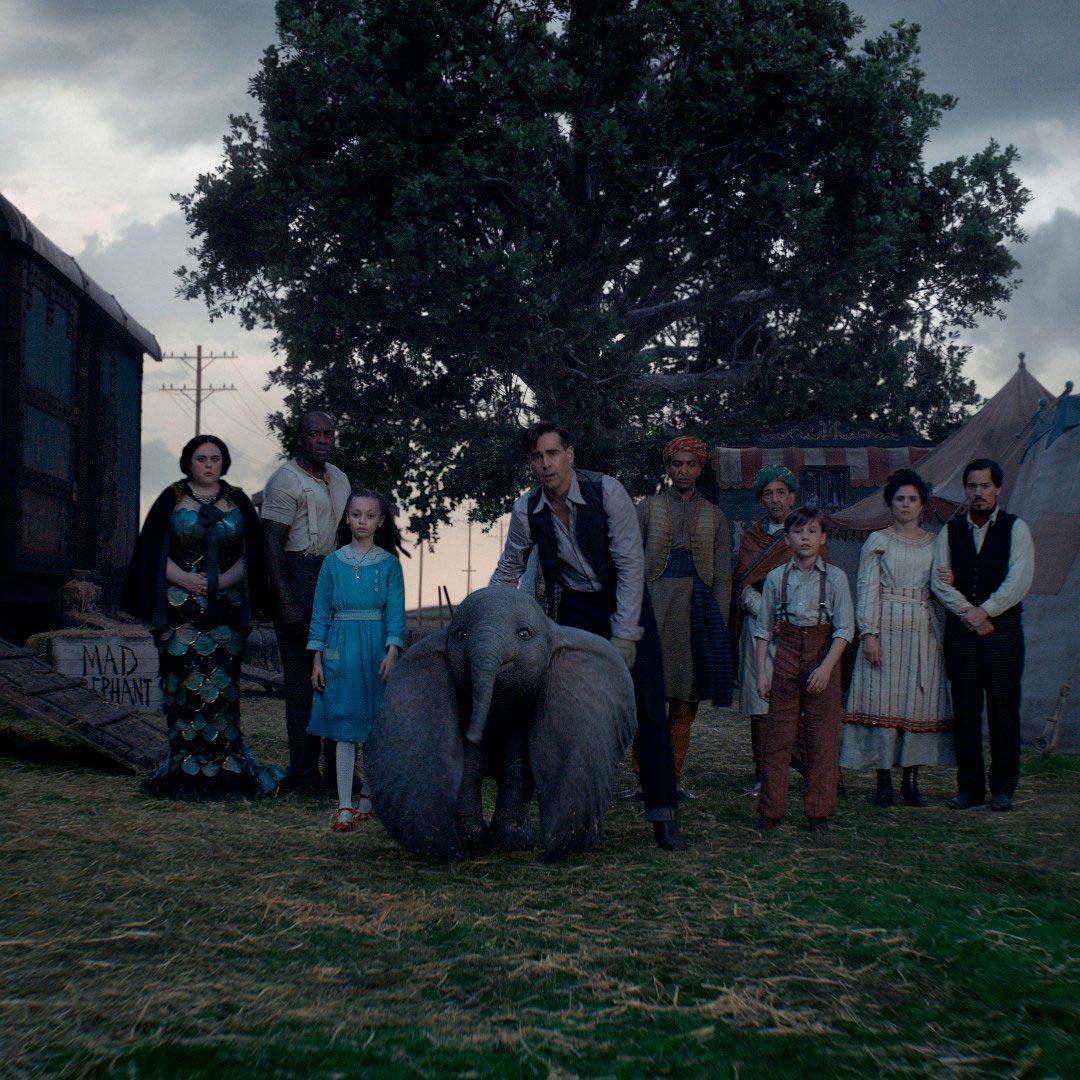 DUMBO 2019 - Tim Burton - reparto pelicula