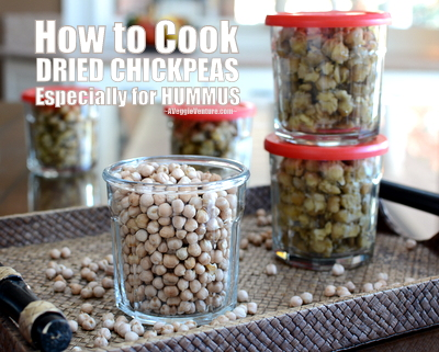 How to Cook Dried Chickpeas for Hummus ♥ AVeggieVenture.com. Yeah, it's worth the effort.