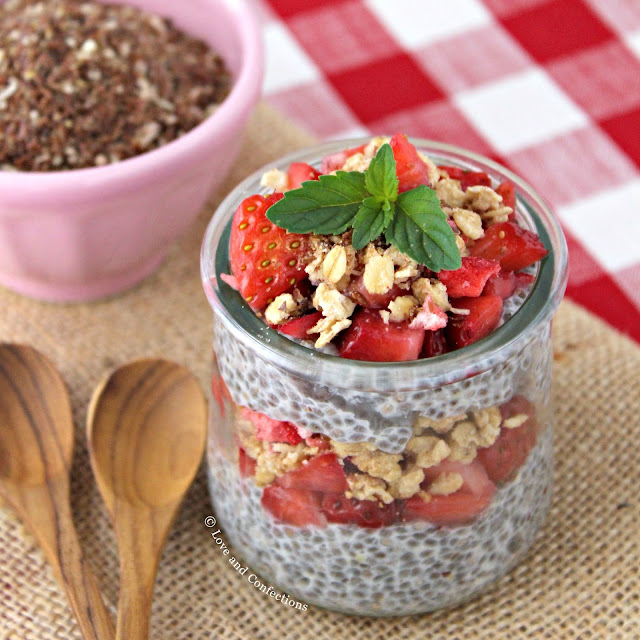 Overnight Strawberry Chia Superfruit Pudding #BrunchwithBarleans #Barleans #sponsored