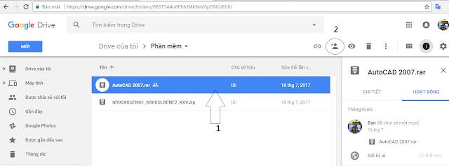 Hướng dẫn chia sẻ file trên Google Driver