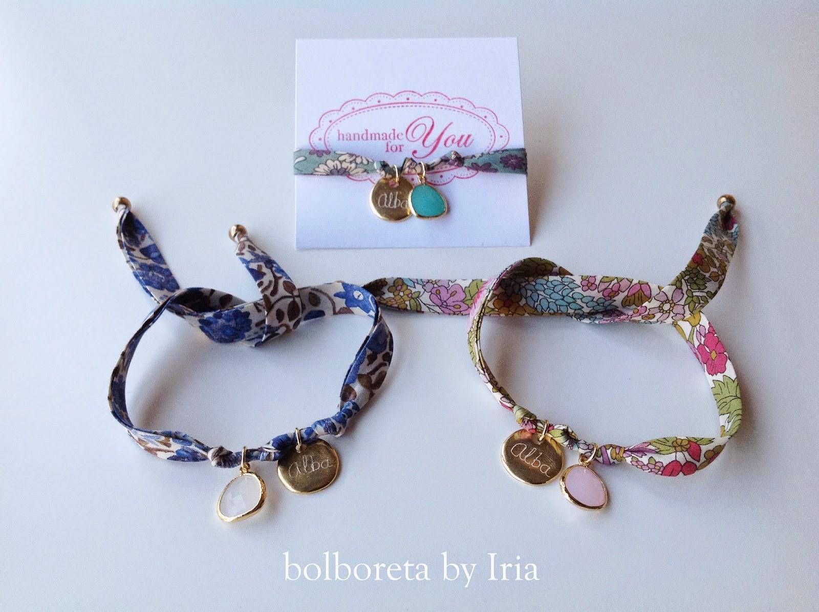 43389e5b07c9 Bolboreta by Iria (complementos)  Pulseras de cinta liberty ...