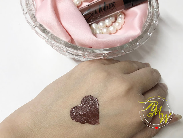 a photo of Flormar Silk Matte Liquid Lipstick Review in shade Hot Cocoa by Nikki Tiu of www.askmewhats.com
