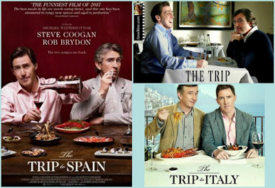 Foodie Films The Trip, The Trip to Italy and The Trip to Spain featured on Food Blog