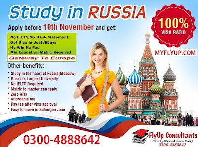 Study in Russia consultants in Pakistan