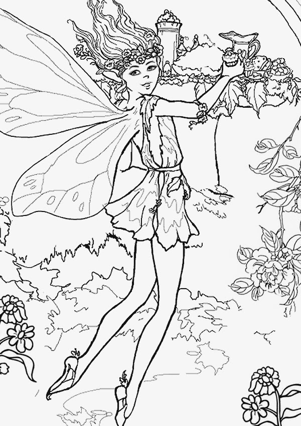 Printable coloring pages for Christmas fairy coloring pages