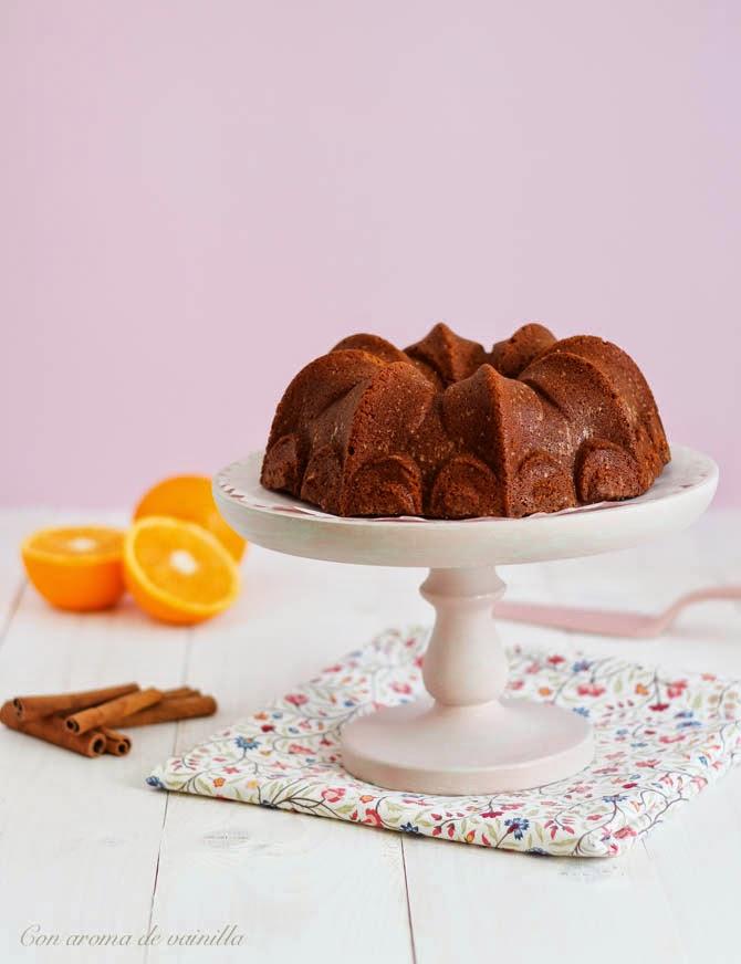Bundt cake naranja y canela