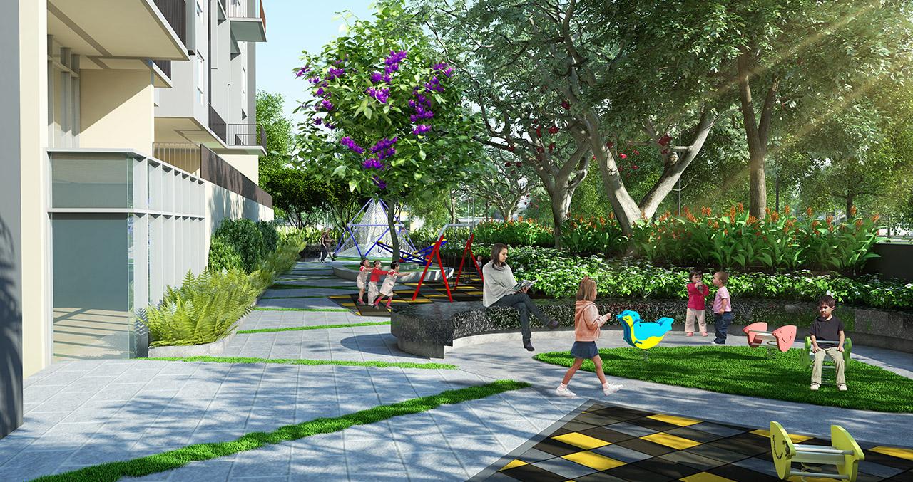 Khuôn viên xanh xung quanh dự án Xuân Mai Thanh Hoá