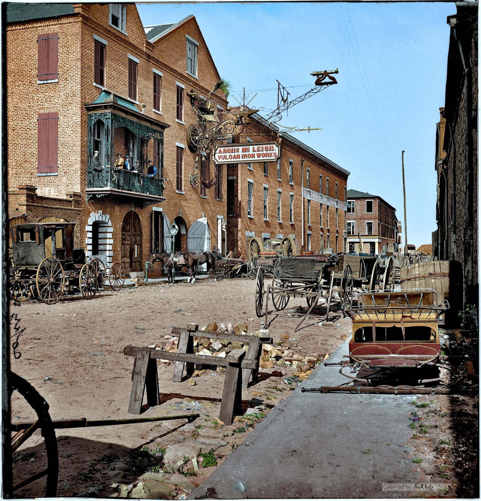 COLORIZING HISTORY: 1865. Charleston, South Carolina