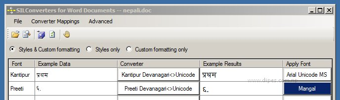 Unicode converter for Word | Dipes Blog