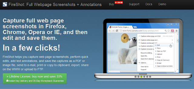 Download FireShot (Screenshot) untuk Firefox dan Chrome