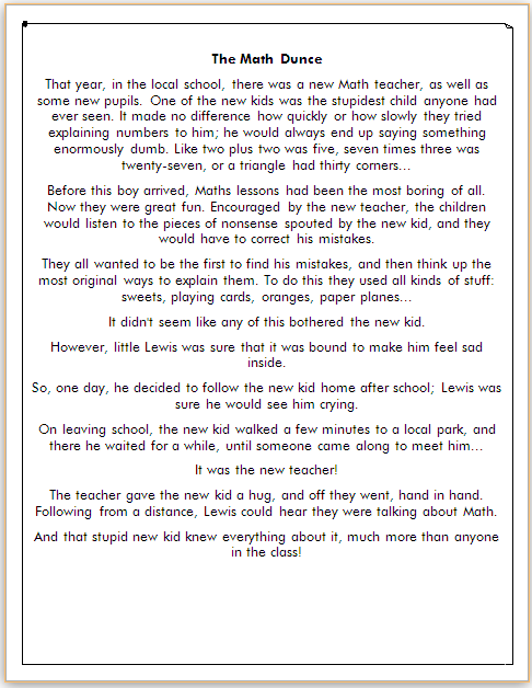 Cerita dalam Bahasa Inggris Singkat