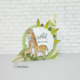 Wild About You a card by Diane Morales - Wild Child Stamp Set by Newton Nook Designs