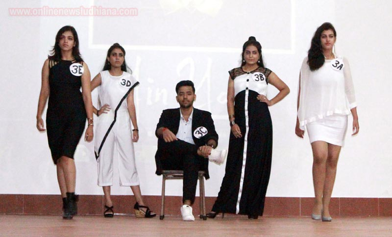 Students on stage during Fashion Fiesta at BCM School