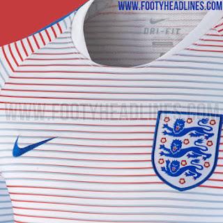 Tampilan depan jersey prematch Timnas Inggris Euro 2016 bocoran jersey di enkosa sport toko online terpercaya