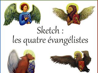 sketch 4 evangelistes