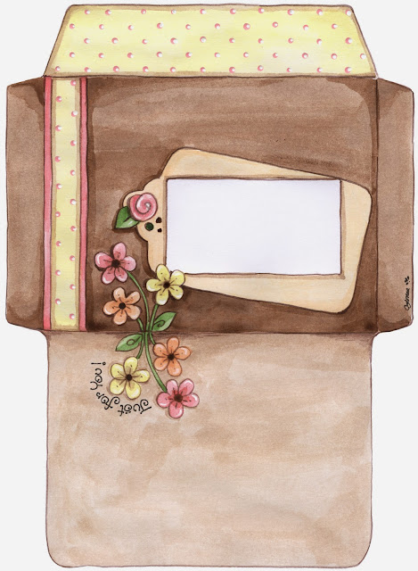 Sobres con Flores para Imprimir Gratis.