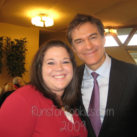 Katie with Dr. Oz in 2009
