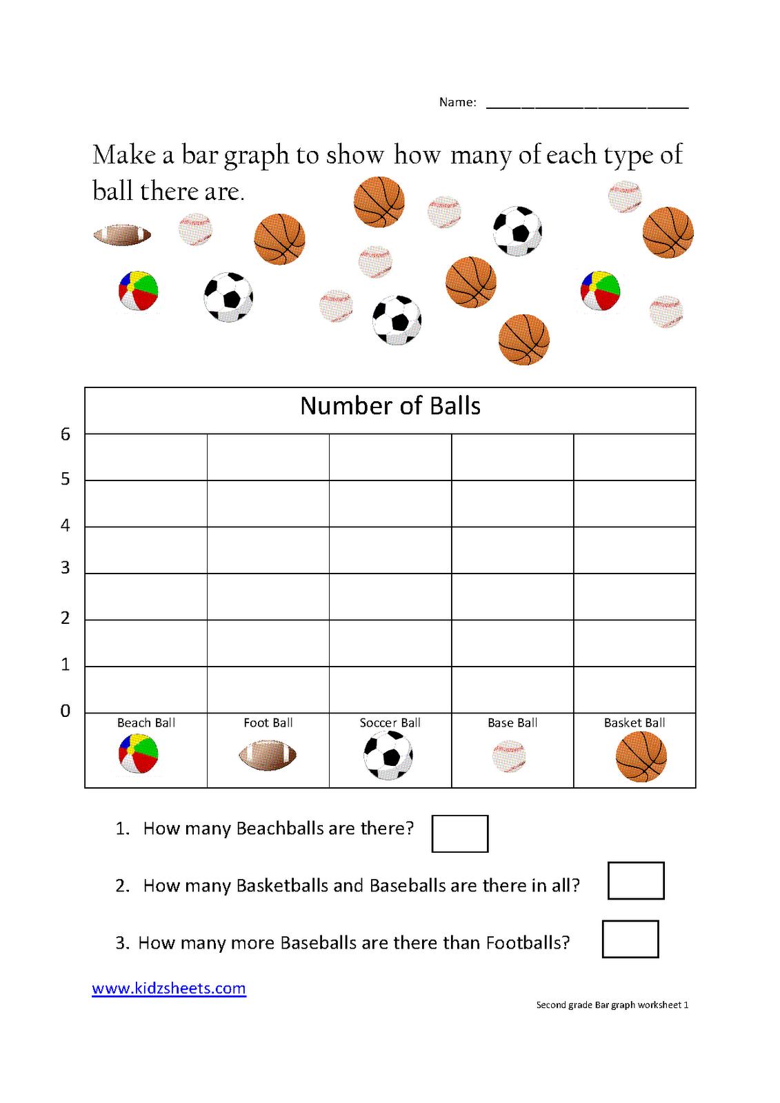 hight resolution of Kidz Worksheets: Second Grade Bar Graph Worksheet1