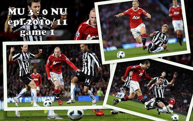 koleksi gambar ketika Manchester United tewaskan Newcastle United 3-0