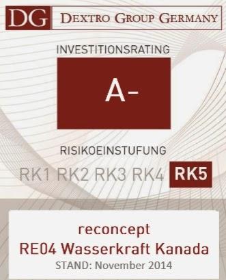 reconcept re04 wasserkraft kanada canada dextro bewertung vergleich analyse sicherheit rating 2014 meinung