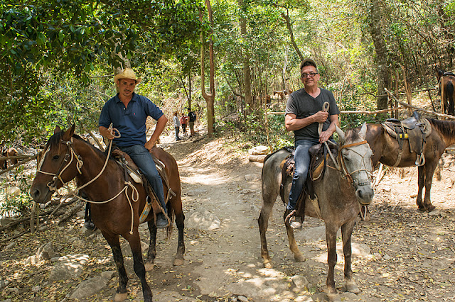 Reinier et Serge sur leur cheval respectif
