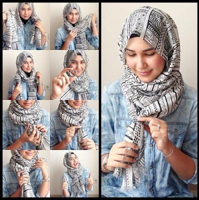 Tutorial Cara Memakai Jilbab Segi Empat dengan Mudah
