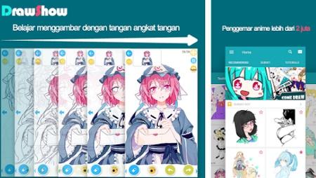 cara menggambar karakter anime dan manga di android