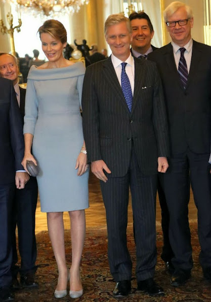 Queen Mathilde received the Governors of the Belgian Provinces at the Royal Palace