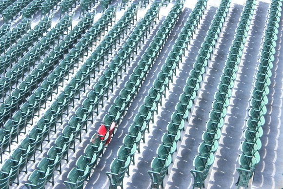 These green monster seats at Fenway Park are fun and unique.
