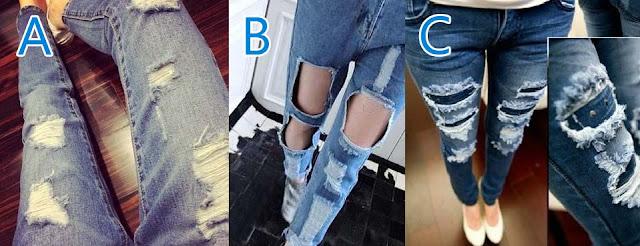 cara merobek celana jeans