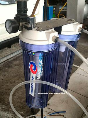Peralatan carbon cleaner atau gurah mesin.