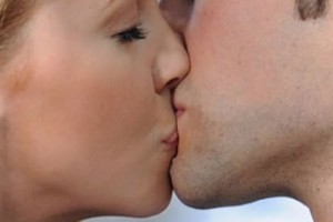 The female employees of this company are being forced to give their boss a kiss before they start working!