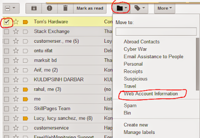 Move Gmail Conversations from Inbox to Labels