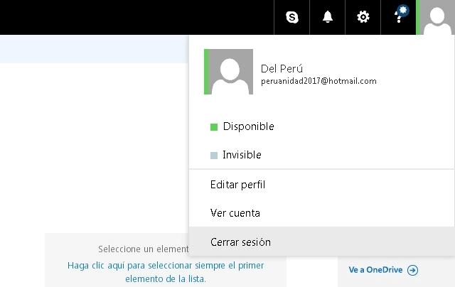 Cerrar sesión Hotmail