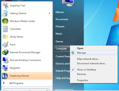 Membuat Partisi Baru di Windows 7