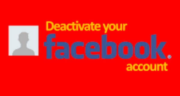 how to deactivate facebook account on computer