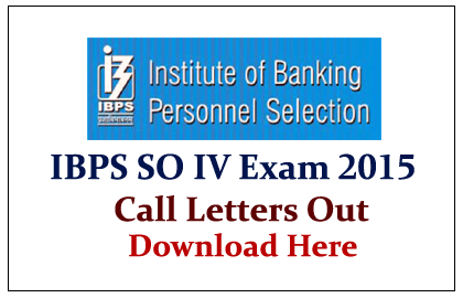 IBPS Specialist Officers IV Exam