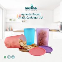Dusdusan Amanda Round Snack Container Set (Set of 3) ANDHIMIND