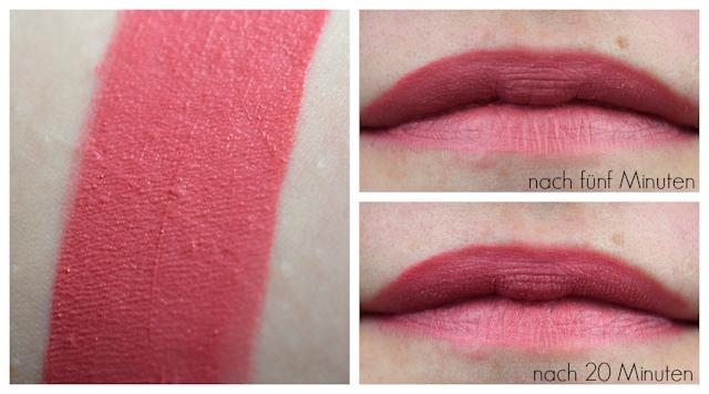 Catrice - Velvet Liquid Lipstick Nuance 02 Retro Rosiness | Swatch & Tragebilder