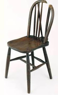 Chair in which Josef Jakobs was executed at the Tower of London